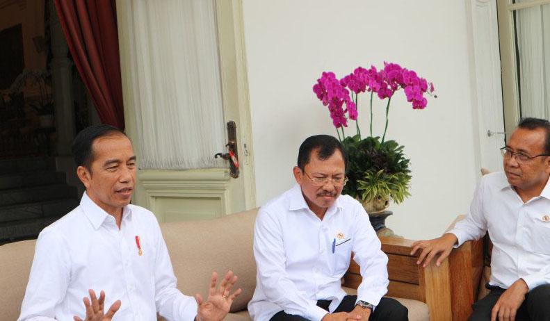 Presiden Joko Widodo di Istana Merdeka Jakarta, Senin (2/3) (Desca Lidya Natalia)
