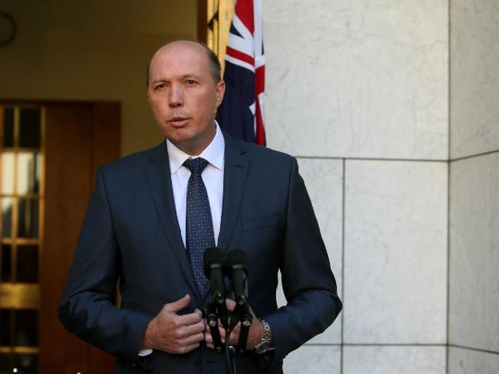 Menteri Dalam Negeri Australia Peter Dutton