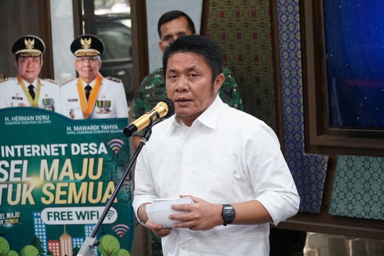 Gubernur Sumatera Selatan H Herman Deru