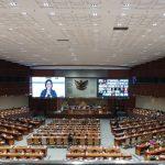 Sidang Paripurna DPR RI ketujuh, Kamis (07/10/2021).